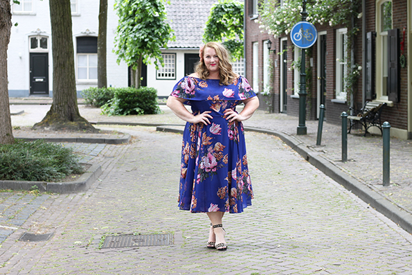 Purple bardot swing dress Asos Curve 11