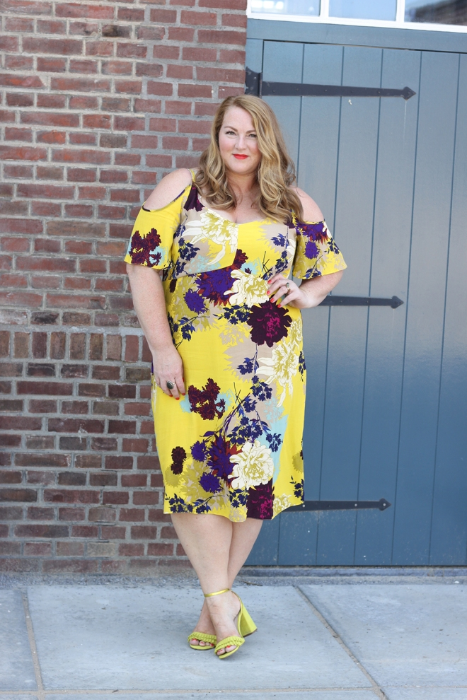 OOTD plussize fashion curvy newlook inspire cold shoulder dress 2