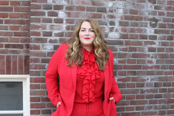 Belloya Plussize Fashion Curvy Grote maten Red Suit 18