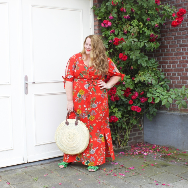 OOTD plussize fashion curvy grote maten mode newlook maxidress 2