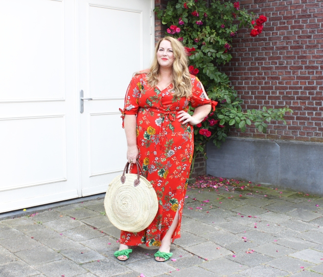 OOTD plussize fashion curvy grote maten mode newlook maxidress 7