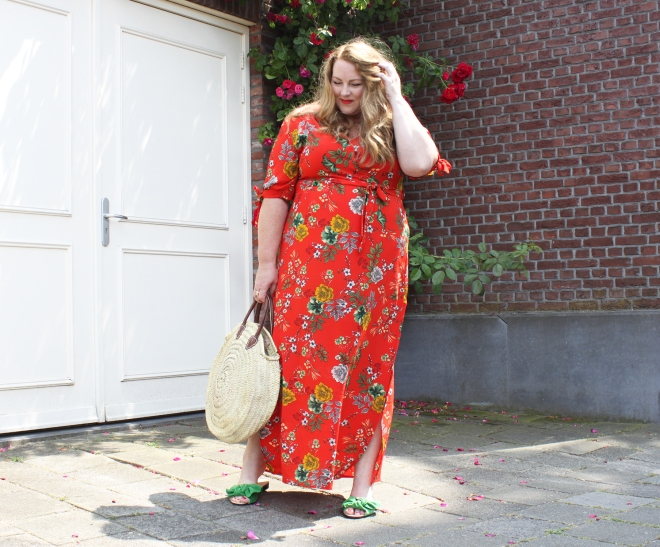 OOTD plussize fashion curvy grote maten mode newlook maxidress 9